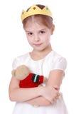 Kleines Mädchen mit Spielzeugbären Lizenzfreie Stockbilder