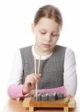 Kleines Mädchen mit Sushi Lizenzfreie Stockbilder