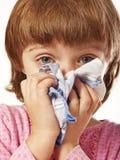 Kleines Mädchen mit Taschentuch Lizenzfreies Stockbild