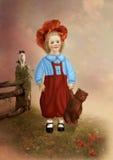 Kleines Mädchen mit Teddybären Lizenzfreie Stockfotografie
