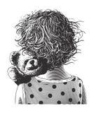 Kleines Mädchen mit Teddybären Lizenzfreie Stockbilder