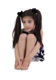 Kleines Mädchen mit träumerischen Augen Stockbilder