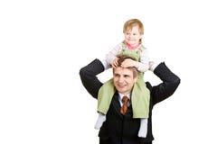 Kleines Mädchen mit Vater stockbilder