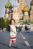 Kleines Mädchen in Moskau Stockbilder