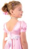 Kleines Mädchen sieht wie eine kleine Prinzessin aus Stockbilder
