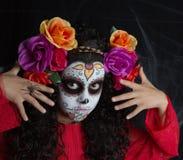 Kleines Mädchen Sugar Skulls Stockfotos