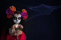 Kleines Mädchen Sugar Skulls Lizenzfreie Stockbilder