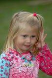 Kleines Mädchen traurig Stockfotos