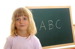 Kleines Mädchen und ABC Lizenzfreie Stockfotografie