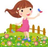 Kleines Mädchen und Basisrecheneinheit lizenzfreie abbildung