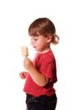 Kleines Mädchen und Eiscreme Stockbilder