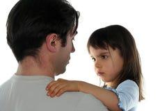 Kleines Mädchen und ihr Vater Stockfotos