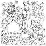 Kleines Mädchen und kleiner Prinz Stockfoto