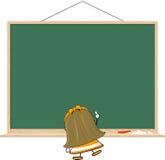 Kleines Mädchen und leere Tafel Lizenzfreies Stockfoto