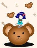Kleines Mädchen und Puppe Lizenzfreie Stockfotos