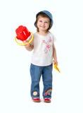 Kleines Mädchen und Schaufel Lizenzfreie Stockfotos