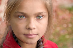 Kleines müdes Mädchen Stockbild
