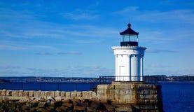 Kleines Maine-Leuchtturmleuchtfeuer der Sicherheit, Anleitung Stockbild