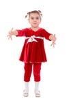 Kleines Mädchen-geöffnete Arme. Lizenzfreie Stockfotografie