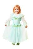 Kleines Mädchen getrennt auf Weiß Stockfoto