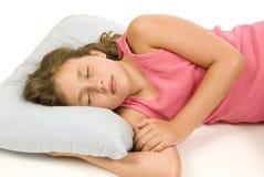 Kleines Mädchen schlafend Stockbild