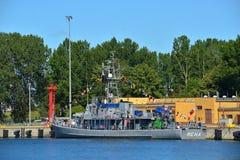 Kleines Minensuchboot Stockfotos