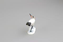 kleines Modell des Spaßes des Kranes am borad Lizenzfreie Stockfotografie