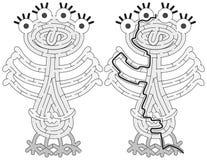 Kleines Monsterlabyrinth stockbilder
