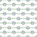 Kleines nahtloses Vektor-Muster Daisy Polka Dot Flower Stripess Fr?hlings-Gr?n-Kreise vektor abbildung