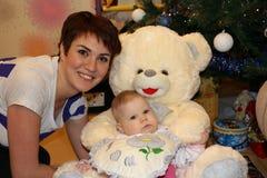 Kleines nettes Baby und Mutter Lizenzfreie Stockbilder