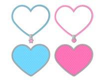 Kleines nettes Herz auf transparentem Hintergrund Vektorsatz grafische Elemente für LOL-Puppen-Überraschungspartyart vektor abbildung