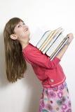 Kleines nettes Mädchen sieben Jahre alt lizenzfreie stockbilder