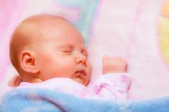 Kleines neugeborenes Baby 24 Tagesschlaf Stockfotografie