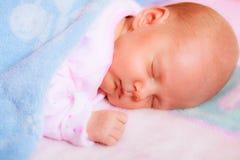 Kleines neugeborenes Baby 24 Tagesschlaf Lizenzfreies Stockbild