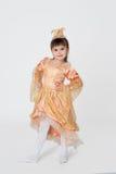 Kleines Prinzessinkarnevalskostüm Stockbild