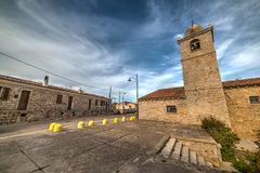 Kleines Quadrat in San Pantaleo Stockfotos