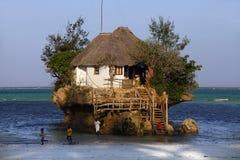 Kleines Restaurant der Felsen Lizenzfreies Stockfoto