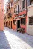 Kleines Restaurant in Italien Lizenzfreies Stockfoto