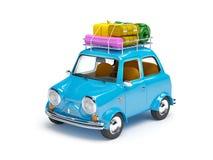 Kleines Retro- Reiseauto Stockbilder
