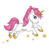 Kleines rosa Einhorn Stockbild