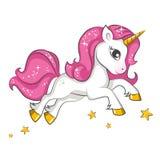 Kleines rosa Einhorn Design für Kinder Vektor Abbildung