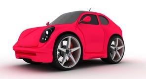 Kleines rosafarbenes Auto Stockfotos