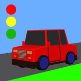 Kleines rotes Auto Stockbild