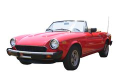 Kleines rotes Kabriolett stockfoto