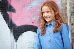 Kleines rothaariges Mädchen Stockfoto