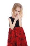 Kleines ruhiges Mädchenporträt lizenzfreie stockfotos