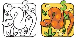 Kleines Schlangenmalbuch Alphabet S Stockbild