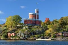 Kleines Schloss auf Kastellholmen-Insel in Stockholm Lizenzfreie Stockbilder