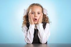 Kleines Schulmädchen Lizenzfreies Stockfoto