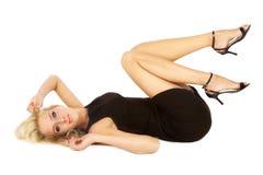 Kleines schwarzes Kleid lizenzfreie stockfotos